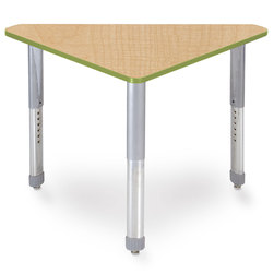 Interchange Wing™ Desk - Fusion Maple Top - Apple Edges