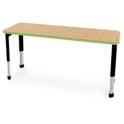 Interchange Rectangle Desk with Fusion Maple Top
