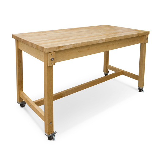 Hann Maple Mobile Project Collaboration Table - Maple Top - 72 in. W x 30 in. D x 36 in. H
