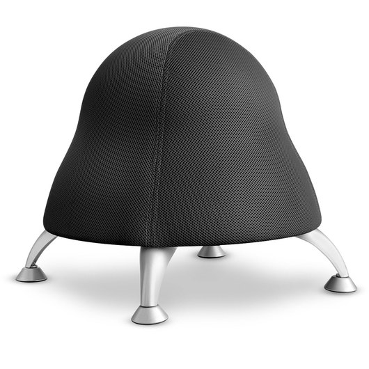 Ball Chair - 17 in. H x 12 in. dia. - Licorice Black