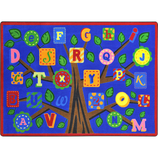 Joy Classroom Carpet - Alphabet Leaves™ - 5 ft. 4 in. x 7 ft. 8 in.