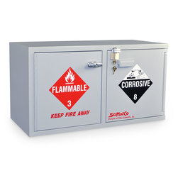 Combination Corrosive/Flammable Mini Stacking Cabinet with Self-Closing Doors - SciMatCo