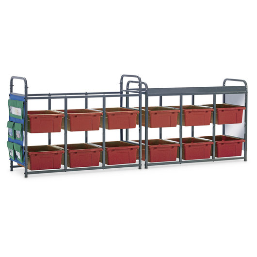 Storage Room Organizer for Leveled Literacy Programs - Red