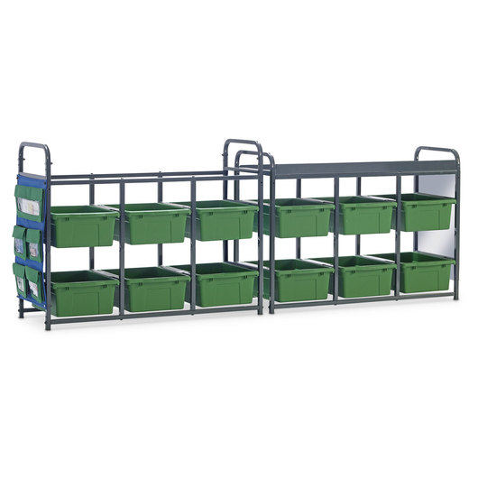 Storage Room Organizer for Leveled Literacy Programs - Green