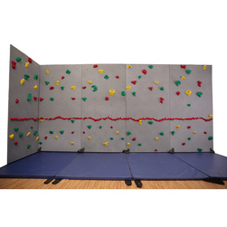 River Rock™ Traverse Wall® Packages Without Mats and Cordless Mat Locking® System - 5 Panels