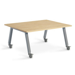 Planner Studio Table - 48 in. W x 29 in. H x 36 in. D - Mission Maple Top