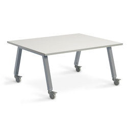 Planner Studio Table - 48 in. W x 36 in. H x 36 in. D - White Board Top