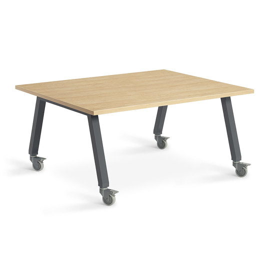 Planner Studio Table - 48 in. W x 40 in. H x 36 in. D - Mission Maple Top
