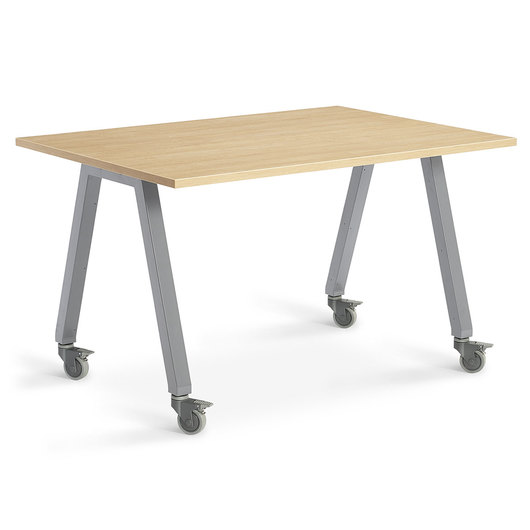 Planner Studio Table - 60 in. W x 36 in. H x 36 in. D - Mission Maple Top