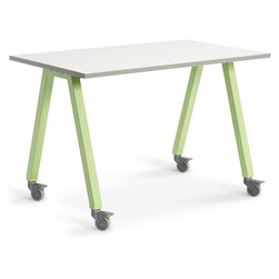 Planner Studio Table - 60 in. W x 40 in. H x 36 in. D - White Board Top