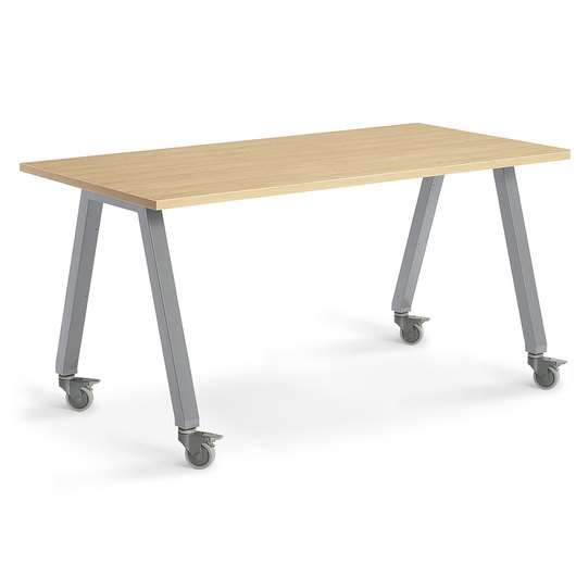 Planner Studio Table - 72 in. W x 29 in. H x 36 in. D - Mission Maple Top