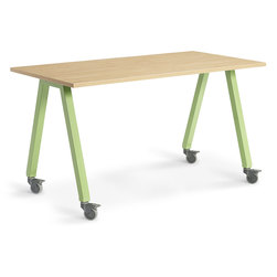 Planner Studio Table - 72 in. W x 40 in. H x 36 in. D - Mission Maple Top