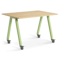 Planner Studio Table - 60 in. W x 36 in. H x 42 in. D - Mission Maple Top