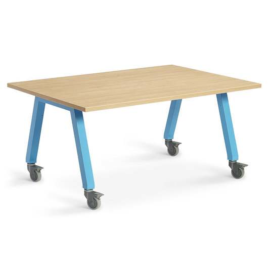Planner Studio Table - 60 in. W x 40 in. H x 42 in. D - Mission Maple Top