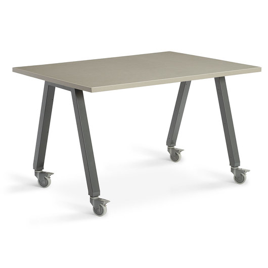 Planner Studio Table - 60 in. W x 40 in. H x 42 in. D - Pewter Mesh Top