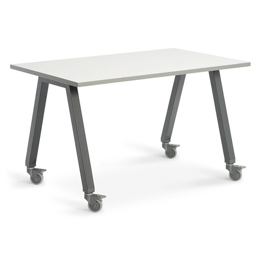 Planner Studio Table - 60 in. W x 40 in. H x 42 in. D - White Board Top