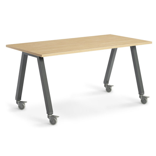 Planner Studio Table - 72 in. W x 29 in. H x 42 in. D - Mission Maple Top