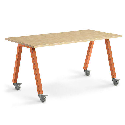Planner Studio Table - 72 in. W x 40 in. H x 42 in. D - Mission Maple Top