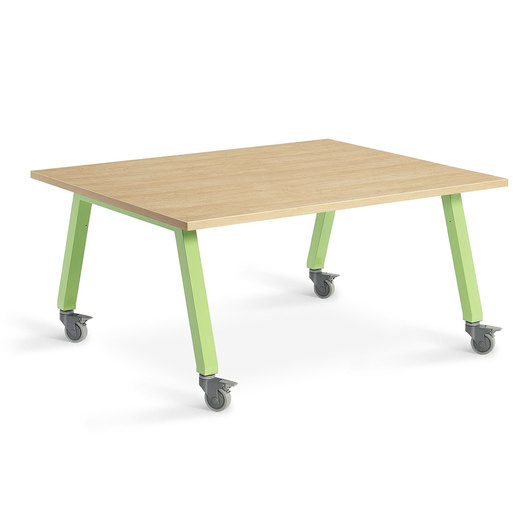 Planner Studio Table - 60 in. W x 29 in. H x 48 in. D - Mission Maple Top
