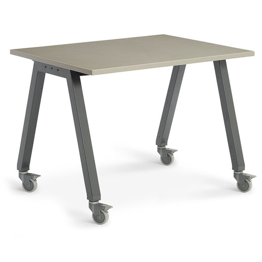 Planner Studio Table - 60 in. W x 36 in. H x 48 in. D - Pewter Mesh Top