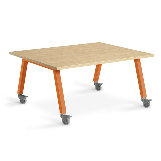 Planner Studio Table - 60 in. W x 40 in. H x 48 in. D - Mission Maple Top