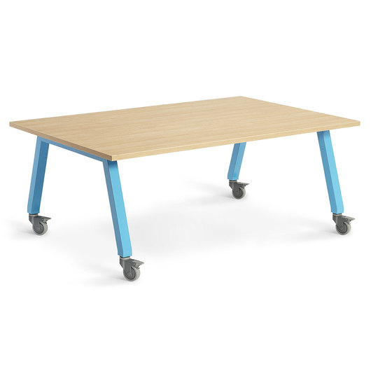 Planner Studio Table - 72 in. W x 29 in. H x 48 in. D - Mission Maple Top