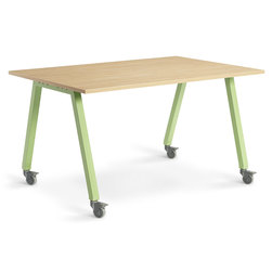 Planner Studio Table - 72 in. W x 36 in. H x 48 in. D - Mission Maple Top