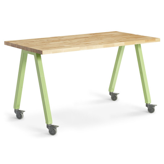 Planner Studio Table - 72 in. W x 29 in. H x 36 in. D - Butcher Block Top