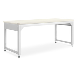 Adjustable Metal Tables - 72 in. W Almond Plastic Laminate Top