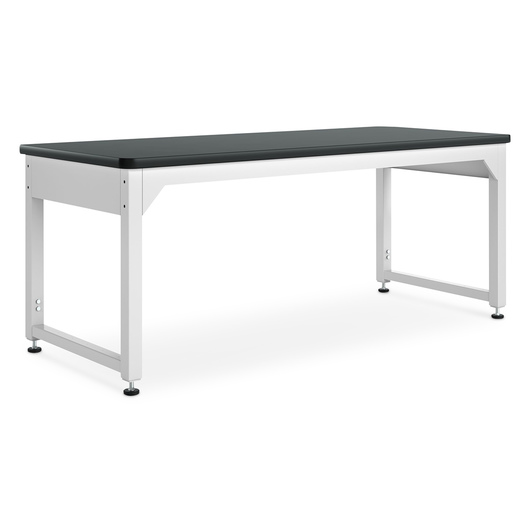 Adjustable Metal Tables - 72 in. W Natural Birch Plastic Laminate Top