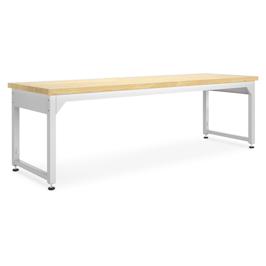 Adjustable Metal Tables - 96 in. W Maple Top