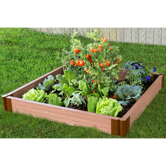 Classic Sienna Raised Garden Bed - 4 ft. x 4 ft. x 5-1/2 in.