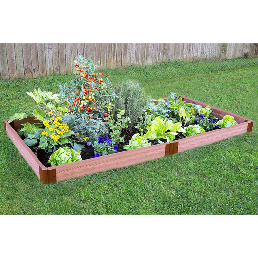 Classic Sienna Raised Garden Bed - 4 ft. x 8 ft. x 5-1/2 in.