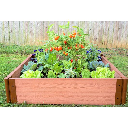 Classic Sienna Raised Garden Bed - 4 ft. x 4 ft. x 11 in.
