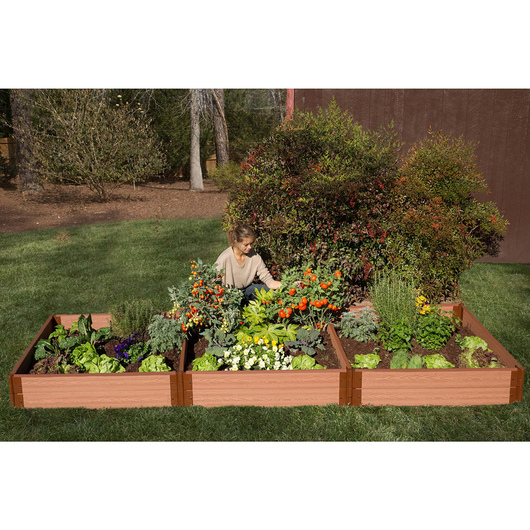 Classic Sienna Raised Garden Bed - 4 ft. x 12 ft. x 11 in.