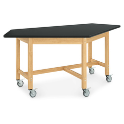 Forward Vision Table on Casters - Red Oak Legs