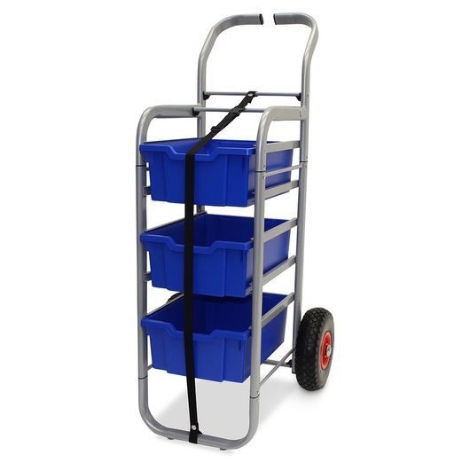 Gratnells Rover All-Terrain Cart - With 3 Deep Trays - Royal Blue