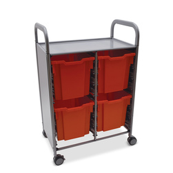 Gratnells Callero Plus Double Carts - With 4 Jumbo Trays