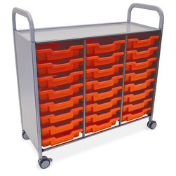 Gratnells Callero Plus Treble Carts - With 24 Shallow Trays