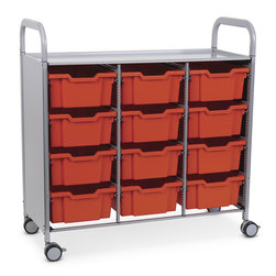 Gratnells Callero Plus Treble Carts - With 12 Deep Trays