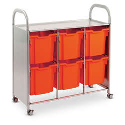 Gratnells Callero Plus Treble Carts - With 6 Jumbo Trays
