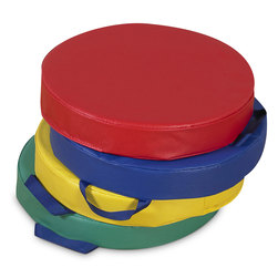 Soft Classroom Round Floor Seating Cushions in Primary Colors
