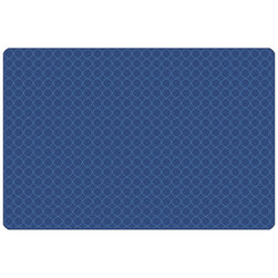 Carpets for Kids® KIDSoft™ Comforting Circles Rug - Rectangle - 3 ft. x 4 ft. - Blue