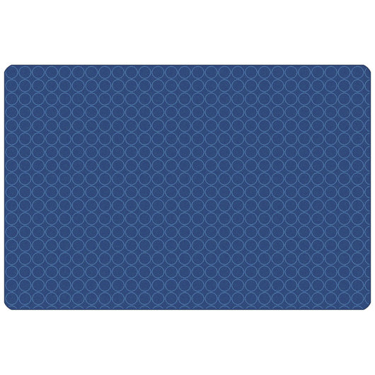 Carpets for Kids® KIDSoft™ Comforting Circles Rug - Rectangle - 4 ft. x 6 ft. - Blue
