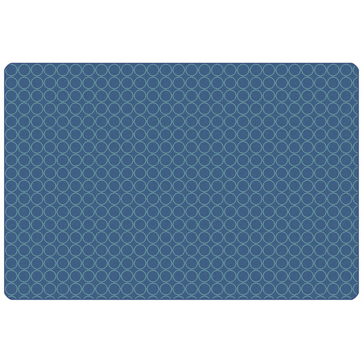 Carpets for Kids® KIDSoft™ Comforting Circles Rug - Rectangle - 4 ft. x 6 ft. - Blue/Teal