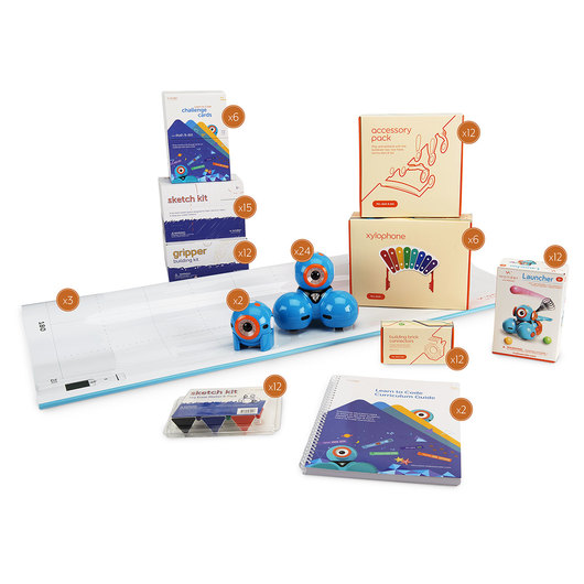 Learn to Code Education K-5 School Pack with Dash™ and Dot™ Coding Robots and Curriculum