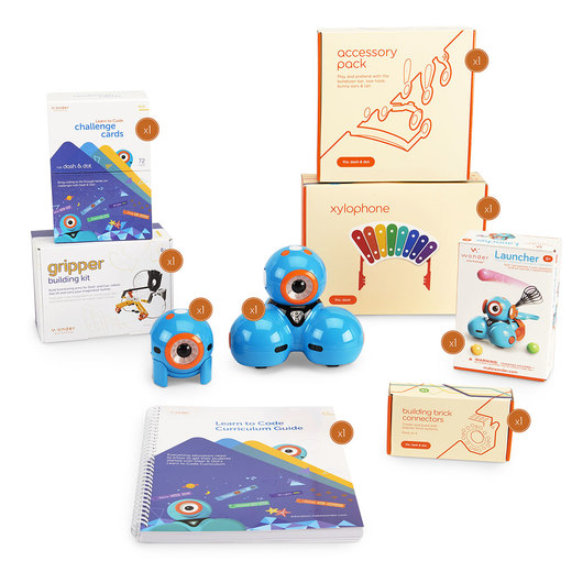 Learn to Code Education Wonder Starter Pack with Dash™ and Dot™ Coding Robots and Curriculum