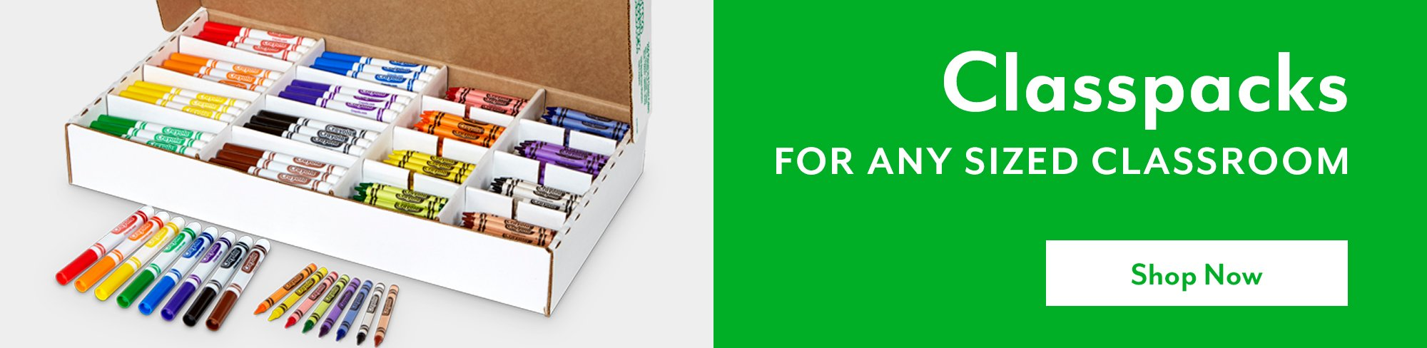 Classpacks for any sized classroom - Shop Now