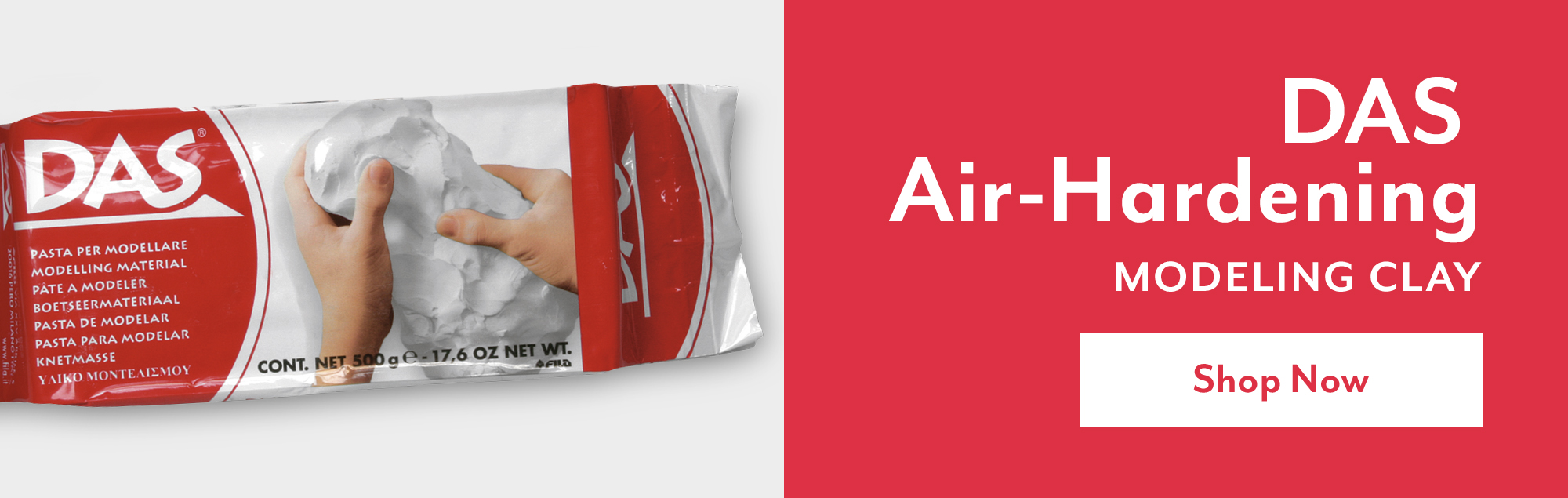 DAS Air-Hardening Modeling Clay – Shop Now