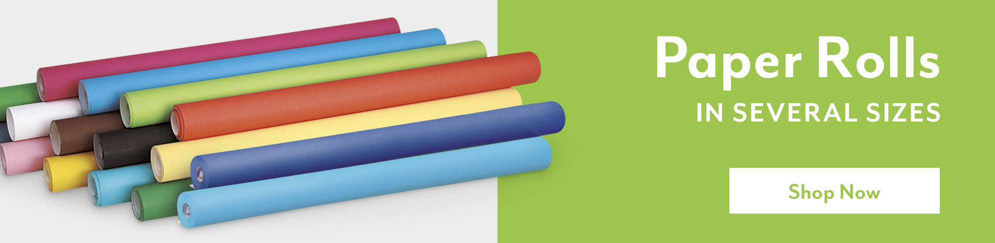 Paper rolls in several sizes - Shop Now